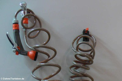 Separater Wasseranschluss mit Spiralschlauch
