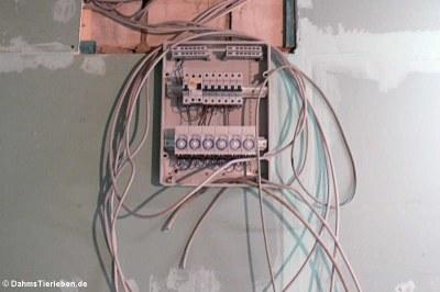 Vorbereitungen für die neue Stromversorgung