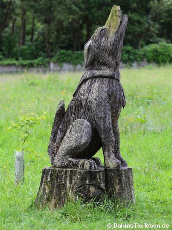 Skulptur Wolf