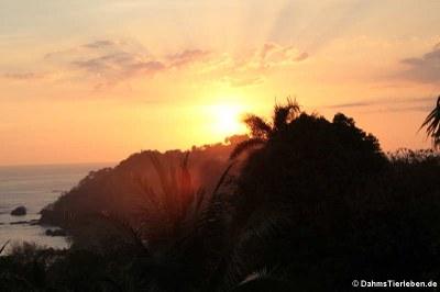 Sonnenuntergang über Punta Quepos
