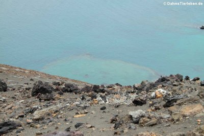 Krater unter Wasser