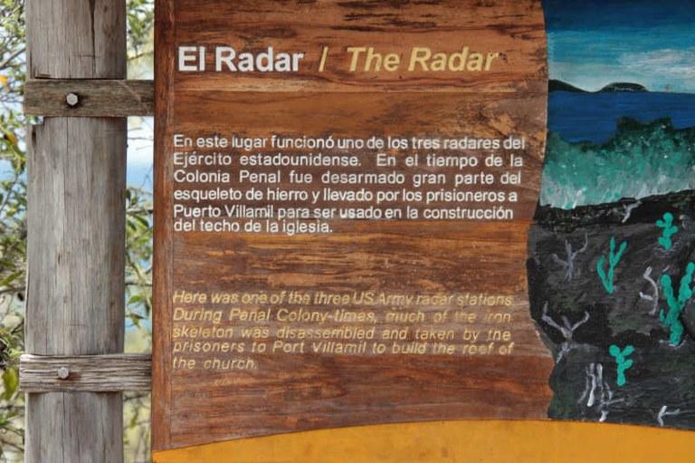 Informationstafel El Radar