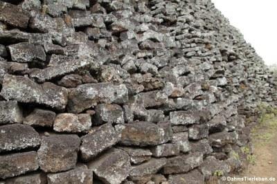 Gut zu erkennen, wie die Steine aufgestapelt wurden