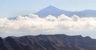 Blick nach Teneriffa auf den Pico del Teide