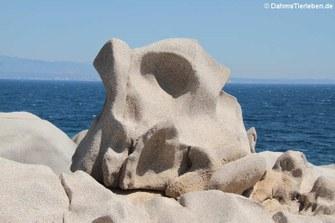 Granitfelsen auf Capo Testa