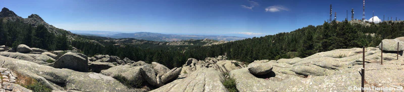Panoramabild von der Aussichtsplattform des Monte Limbara