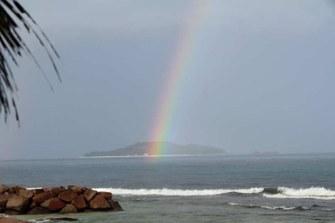 Regenbogen über Cousin