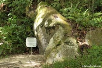 Ein 75 Millionen Jahre alter Granitfelsen ...