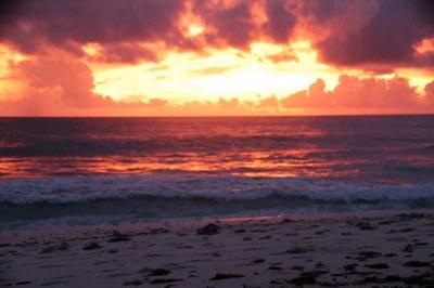 Sonnenuntergang auf Praslin