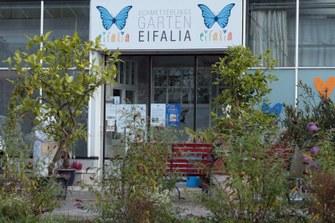 Eingang zum Schmetterlingsgarten
