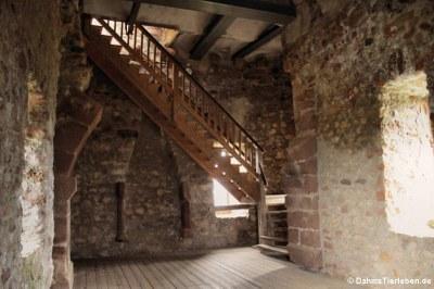 Die oberste Etage des Tor-und Wohnturms